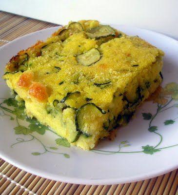 gateaux di polenta di mais e zucchine