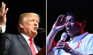 Philippines' deadly drug war praised by Donald Trump, says Rodrigo Duterte Philippines leader says US president-elect felt drug war which has killed thousands was being fought 'the right way'