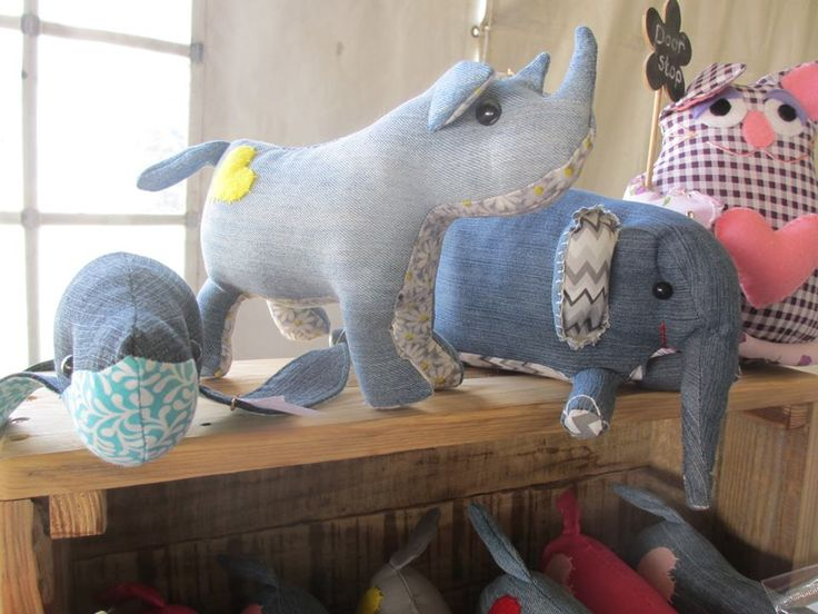 This market emphasized recycled goods and so our rhino, elephant and whale fitted in well.