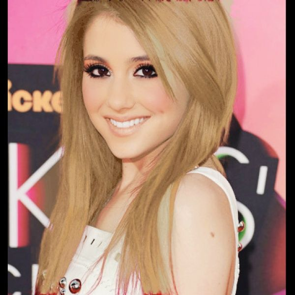 """""""Ariana Grande with BLONDE hair"""" created using TAAZ Virtual Makeover. Try on Hairstyles, Makeup, and color your own hair. It's free!"""