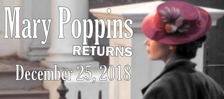 Here is the FIRST LOOK at Golden Globe®️️ winner Emily Blunt as Mary Poppins in MARY POPPINS RETURNS. This film is the all-new sequel to Disney's 1964 classic