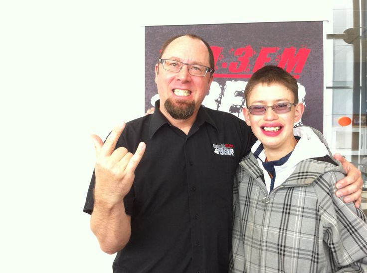 Me and lochlin cross from Edmonton's Best Rock 100.3 the Bear