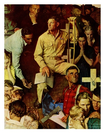 """The Long Shadow of Lincoln"", February 10,1945 Giclee Print by Norman Rockwell at Art.com"