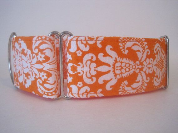 Orange Martingale Collar 2 Inch Martingale Collar by HuggableHound