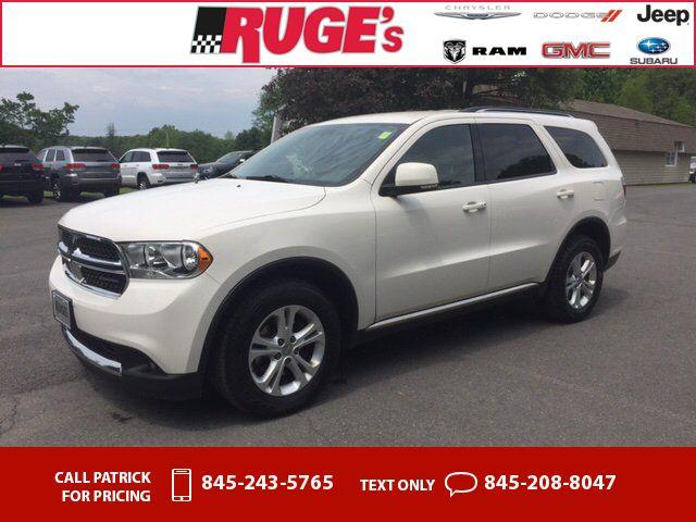 2012 Dodge Durango Crew AWD White 85k miles $19,345 85290 miles 845-243-5765 Transmission: Automatic #Dodge #Durango #used #cars #RugesAuto #Rhinebeck #NY #tapcars