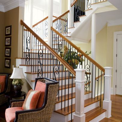images of traditional simple open stairways | images of simple newel post design ideas pictures remodel and decor ...