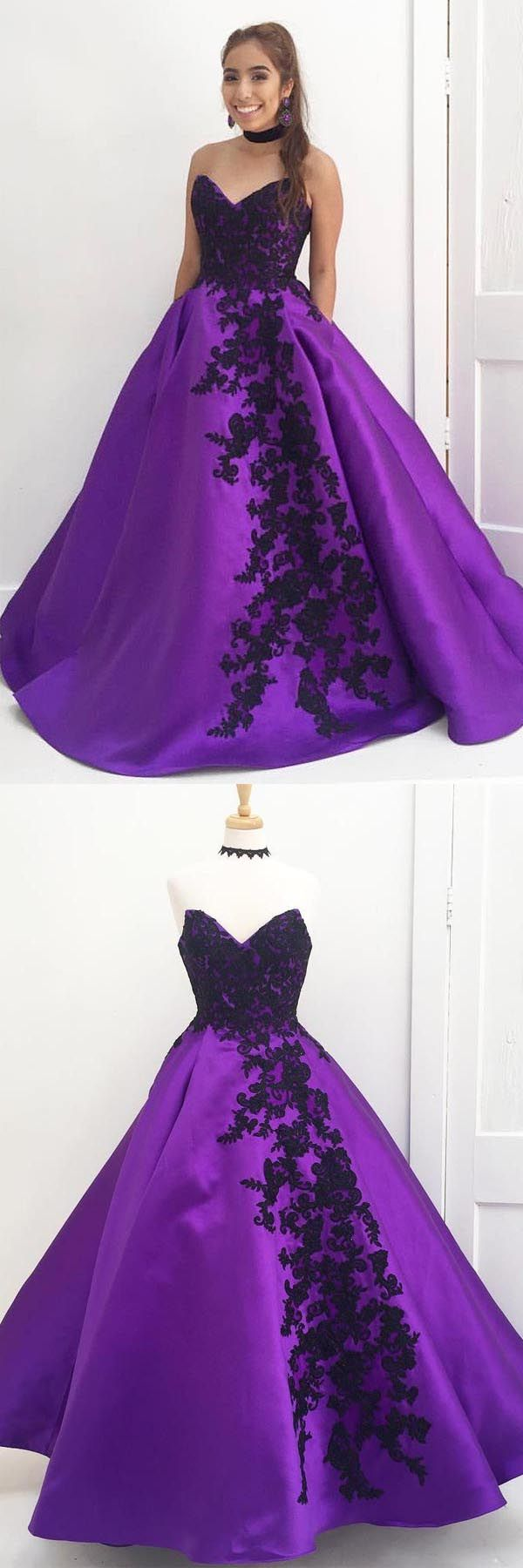 Sweetheart Ball Gown Purple Long Prom Dress with B… -  Prom shopping is alive and well on Pinterest. Compare prices for this @ Wrhel.com before you commit to buy. #Prom