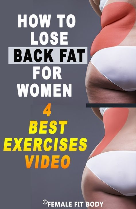 How to Lose Back Fat for Women (4 Best Exercises) Video