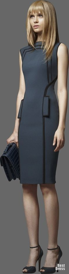 Stunning power suit dress from Elie Saab 2012/2013. Great for the board room and corner office
