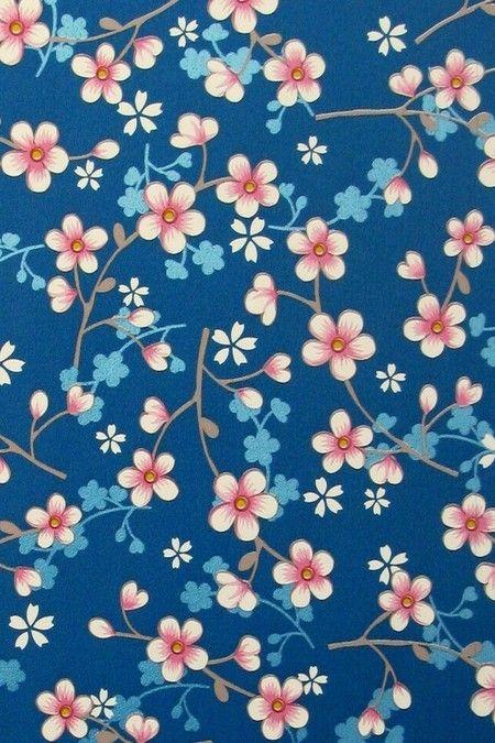Papel de parede PIP Studio - Cherry Blossom Azul Royal