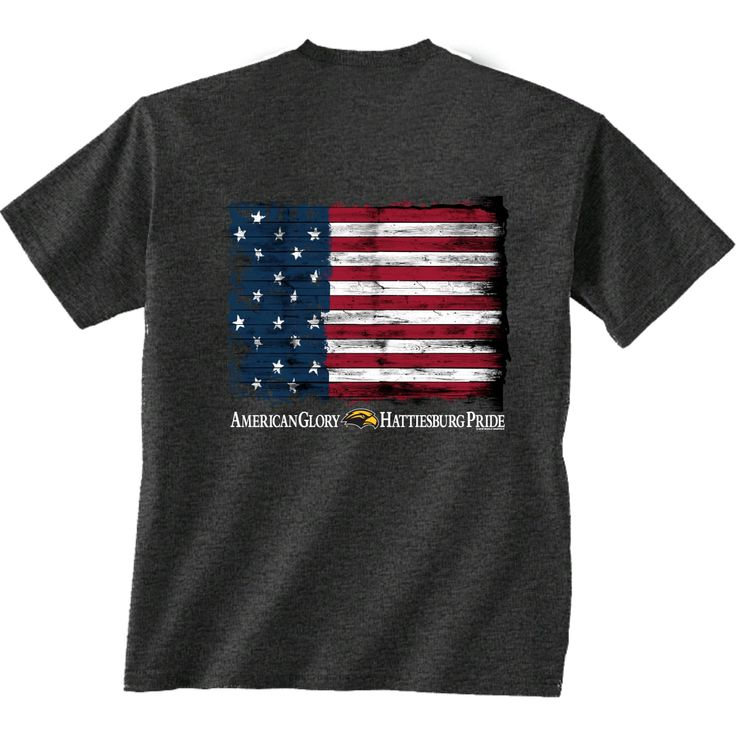 New World Graphics Men's University of Southern Mississippi Flag Glory T-shirt (Grey Dark, Size Large) - NCAA Licensed Product, NCAA Men's Tops at ...