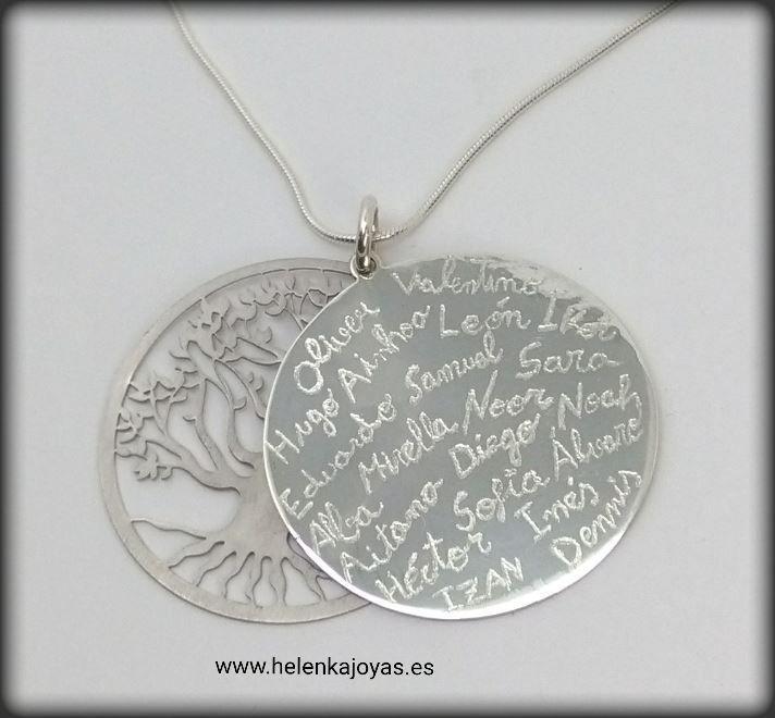 colgante árbol de la vida nombres firmas