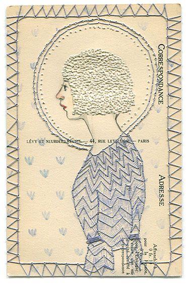 WOW! Abigail Halpin - pin-prick technique and stitch on paper