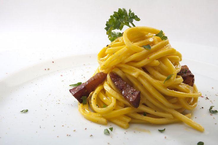 Recetas pasta: Espagueti a la auténtica carbonara sin gluten