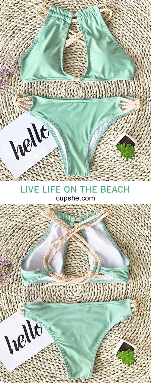 Treat Yourself to Something Special. $21.80 & faster shipping. All fresh elements come in Cupshe Peppermint Wind Bikini Set. It is a must-have for beach trip. Check it out.