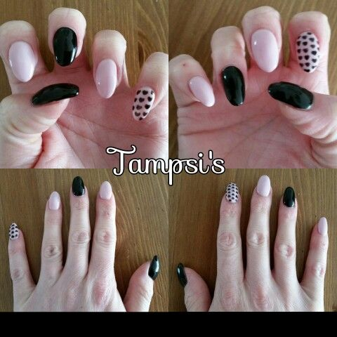 In love with my nails! Acryl with gellac by Tampsi's :-)