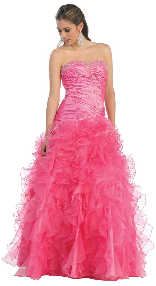 SALE ! MASQUERADE BALL GOWN EVENING PROM FORMAL HOMECOMING QUEEN DRESS UNDER 100 #Designer #EveningGown #Formal
