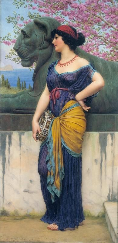 In the Grove of the Temple of Isis by John William Godward :: artmagick.com
