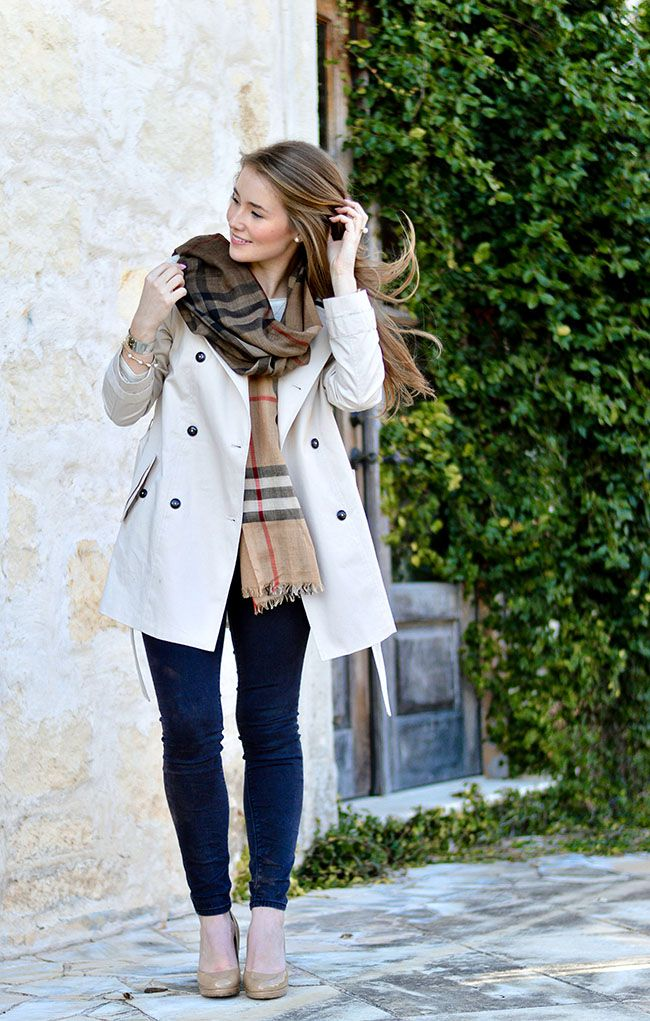 Ombre Burberry Scarf | How to Style a Scarf | Fall Style Ideas | Fall Fashion Tips | Styling for Fall | Trenchcoat Style Tips | How to Wear a Trenchcoat | Styling for Winter | How to Wear a Scarf || A Lonestar State of Southern