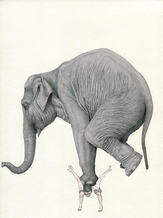 ¿Haciendo malabares? ¡Ánimo, ya es miércoles! #Ilustración por #FabienMerelle http://www.bellasads.com #felizmiércoles