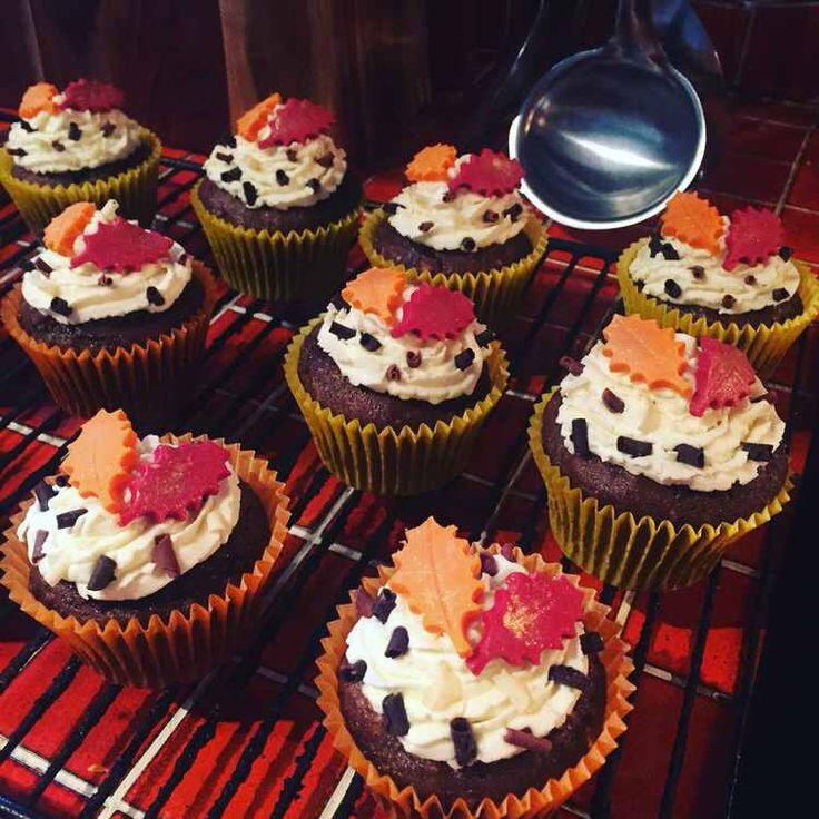 Gluten Free Yorkshire Parkin Cupcakes with Autumnal Design