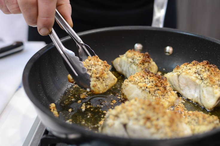Cooking barramundi with Australian bush spices  #Melbourne Good Food and Wine Show