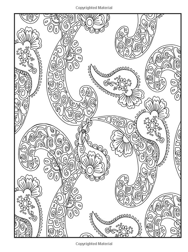 Paisley Pattern Colouring Sheets : 53 best paisley images on pinterest