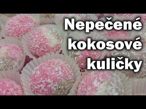 Kokosový suk - kuličky / Recept na kokosové kuličky / Nepečené vánoční cukroví - YouTube