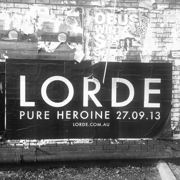 Lorde - Pure Heroine. Can't get enough of this album right now.