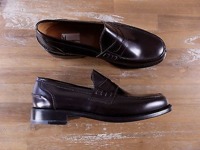 auth MORESCHI burgundy leather penny loafers shoes - Size 9 US / 8 UK / 42 EU