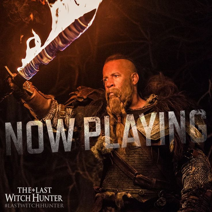 Only the flaming sword of Kaulder can keep evil at bay. See Vin Diesel as The ‪#‎LastWitchHunter‬