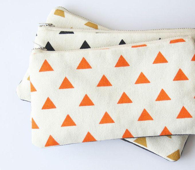 paint shapes on a plain zip pouch