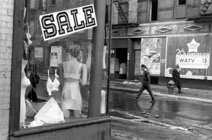 Inge Morath. Lower East Side, New York City 1957.