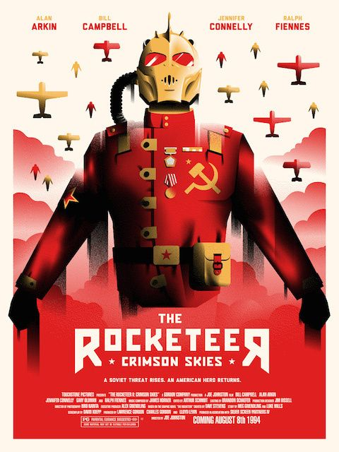"""A speculative fan poster for the """"Rocketeer"""" sequel that never happened."""