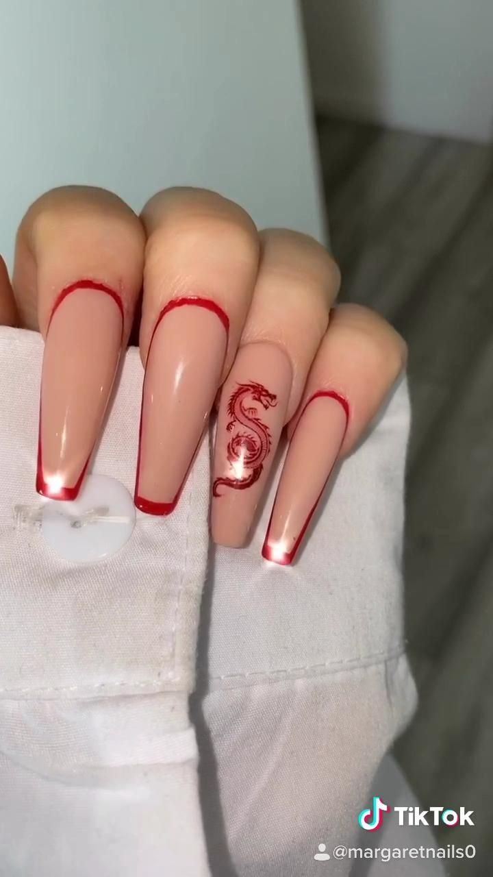 Dragon Press On Nails In 2020 Purple Acrylic Nails Gel Nails Bling Acrylic Nails