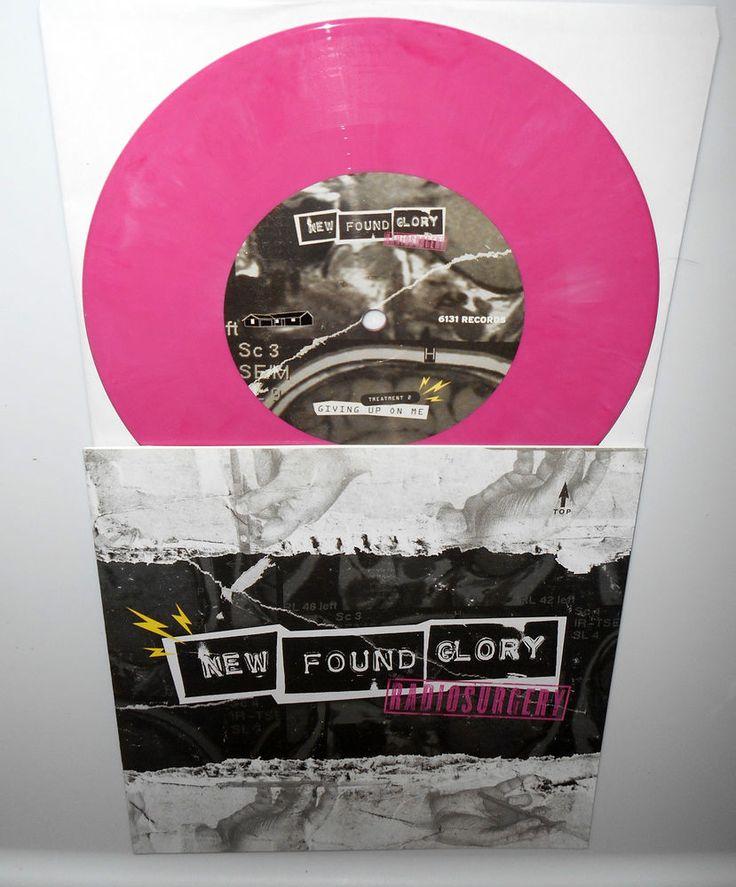 "NEW FOUND GLORY radiosurgery , giving up on me PINK VINYL 7"" Record #PunkPunkNewWave"