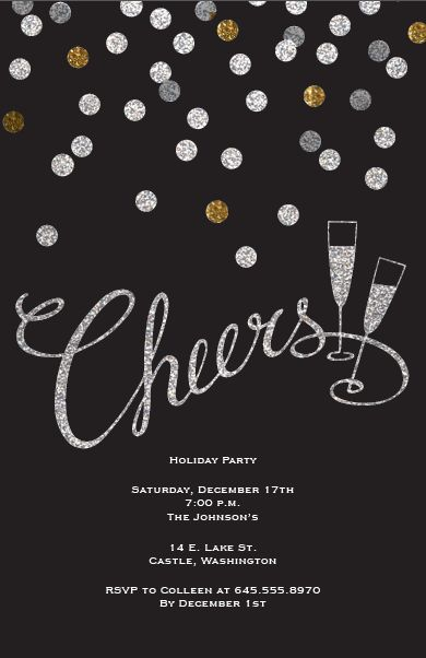 WE ♥ THIS!  ----------------------------- Original Pin Caption: New Years Eve Party Invitation | Vistaprint