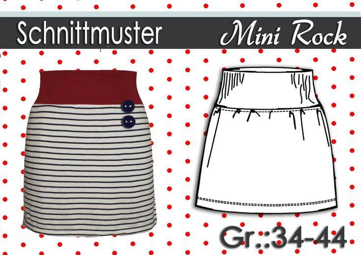 Schnittmuster Mini Rock aus Jersey Gr:34-44  Rocks, Jersey and ...