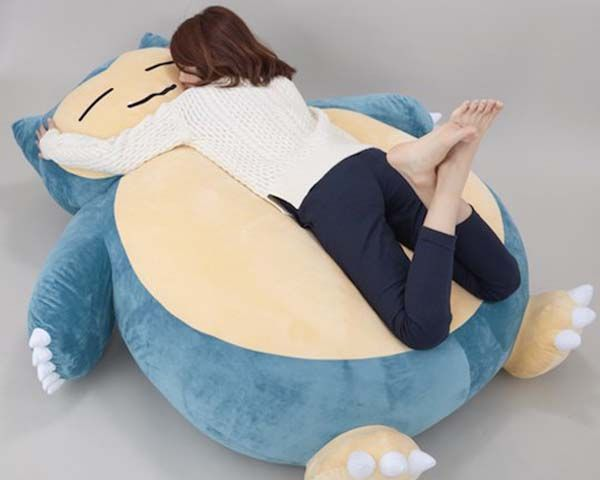 Giant Snorlax Pokemon Cushion is the Cutest Bed for Kids