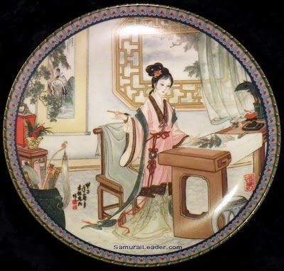 Oriental Imperial Jingdezhen Porcelain Art / # 4 Hsi-chun  named also in story: 贾惜春 or Jia Xichun having the meaning Treasuring Spring