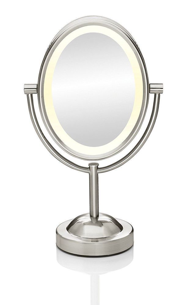 Conair Be154 Oval Shaped Double Sided Lighted Makeup Mirror 1x 7x
