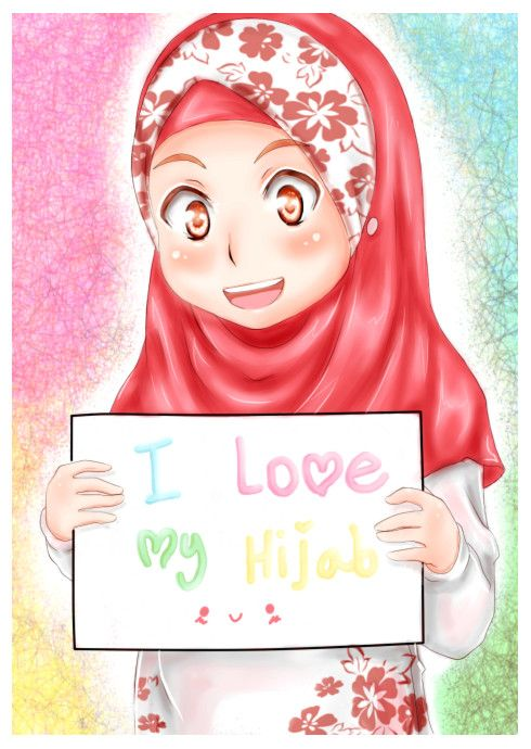 anime manga hijab art