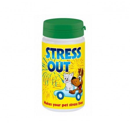 Stress Out 60 tabletek.Stress out to naturalny preparat uspokajający zalecany do stosowania u psów i kotów we wszelkich sytuacjach stresowych, takich jak np.: pokazy fajerwerków, przeprowadzka, podróż, czy wprowadzenie nowego domownika. Preparat nie powoduje uzależnień oraz nie ma skutków ubocznych, dlatego też jest bezpieczny przy długim stosowaniu.