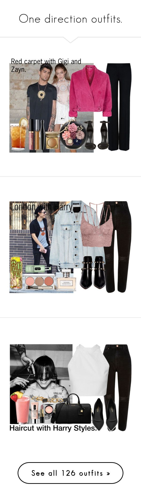 """""""One direction outfits."""" by carla-limitededition ❤ liked on Polyvore featuring OneDirection, onedirectionoutfits, tarte, STELLA McCARTNEY, Schott Zwiesel, Topshop, Shoe Cult, Giorgio Armani, MAC Cosmetics and WithChic"""