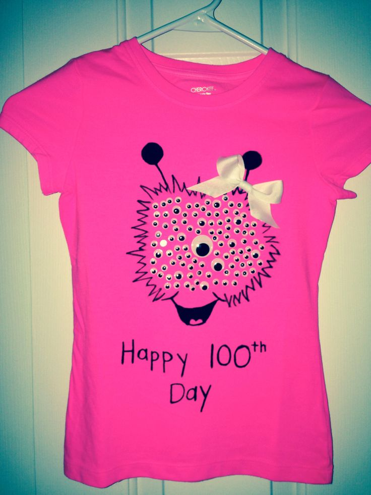 Abby's shirt I made for her to wear for the 100th day of school celebration!