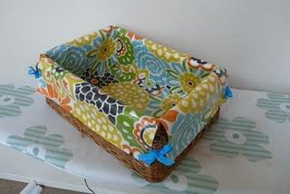 No Sew basket liner, I think I'm in love!