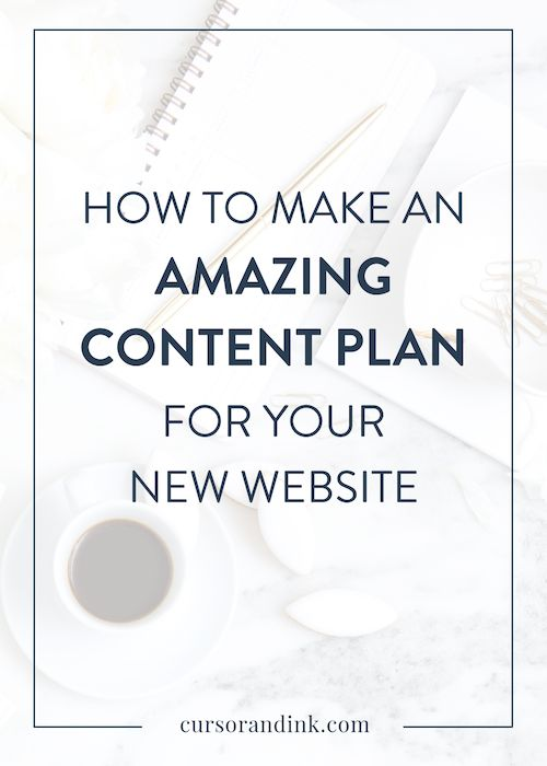 Building a strong content plan is one of the most essential parts of your website design process. It will guide the way you decide to structure your website, the visuals you choose, and the way that you guide your visitors into taking the action that you want them to take. Click here to read how to create an amazing content plan for your new website, or pin to save for later!