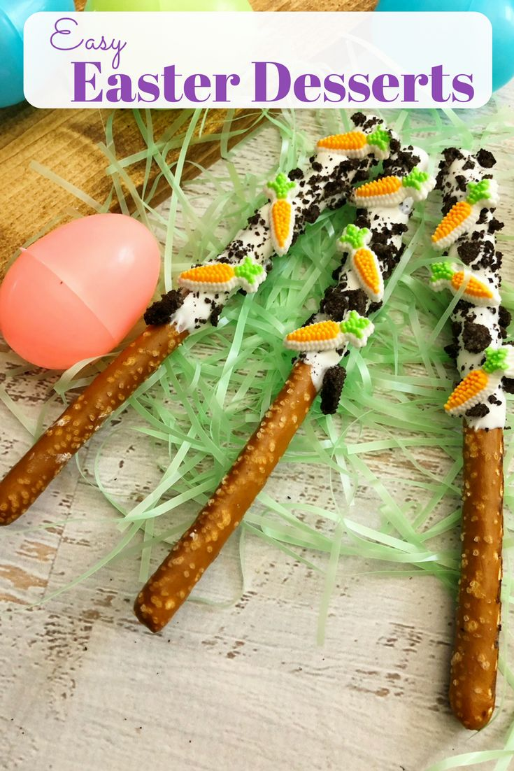Easy Easter Dessert: Chocolate Carrot Dipped Pretzels with Carrots. This is a ki…   – SavvyMamaLifestyle.com Pins