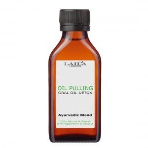 Oil Pulling Oral Oil Pull Detox & Teeth Whitening mouthwash.