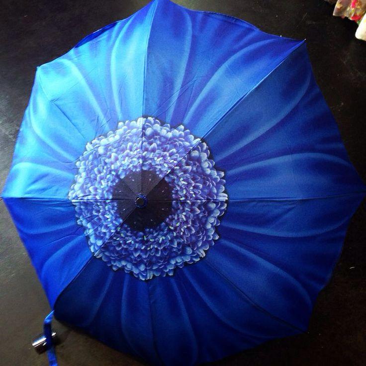 Deep blue daisy Galleria umbrella £25 mymagpiesnest.com